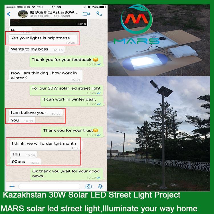 30W Solar Power Led Street Light