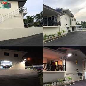 Integrated solar led street light In Brunei