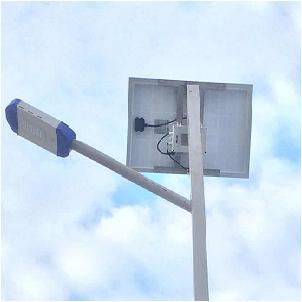 Solar street lamp motion sensor in Tanzania