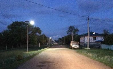 solar street light with battery backup
