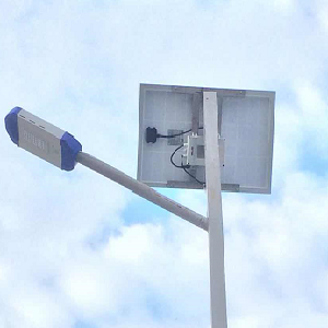 Solar street lamp motion sensor in Tanzania