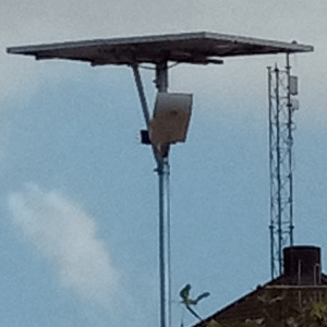 street light with solar panel and battery