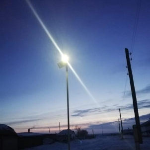 Solar street light working in Kazakhstan