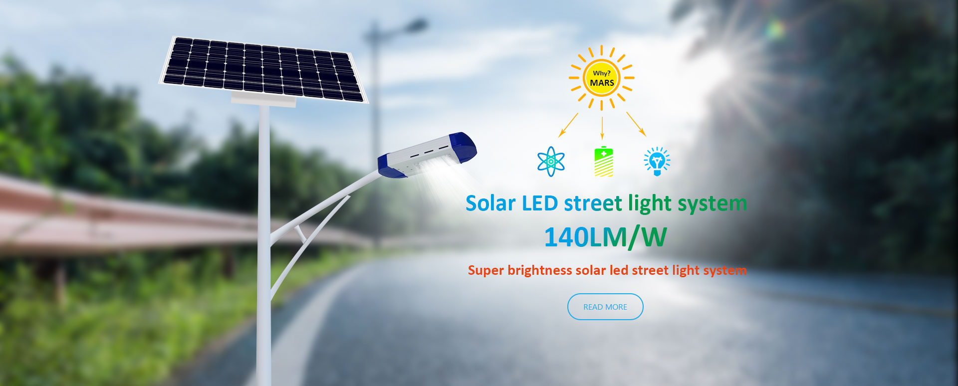 50W Solar Energy Street Light In Nigeria