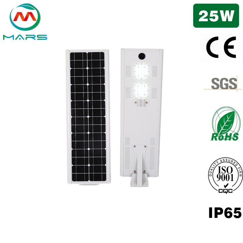 Solar Street Lamps For Garden 25W Manufacturer